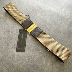 BCBG leather gold elastic belt